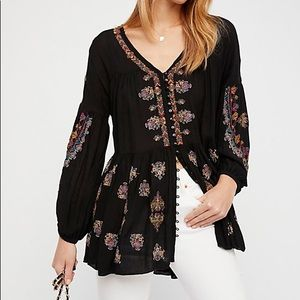 Free people Ariana embroidered tunic